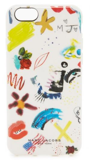 Чехол для iPhone 6/6s с принтом в виде коллажа Marc Jacobs
