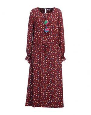 Длинное платье ANGELA MELE MILANO. Цвет: красно-коричневый