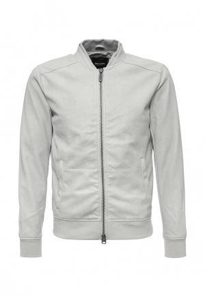 Куртка кожаная Only & Sons. Цвет: серый