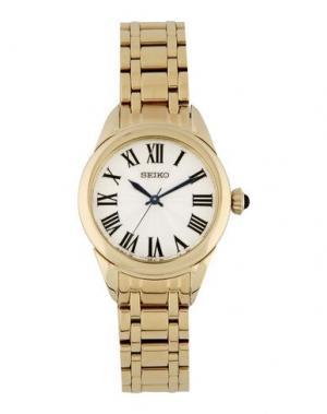 Наручные часы SEIKO. Цвет: золотистый