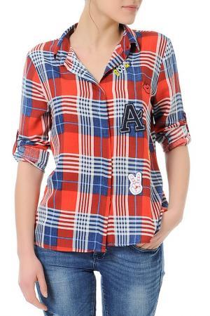 Рубашка Dewberry. Цвет: красный