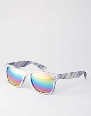 Trip Marble Mirror Square Sunglasses