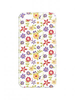 Чехол для iPhone 6Plus Лютики-цветочки Арт. 6Plus-257 Chocopony. Цвет: белый, желтый, фиолетовый