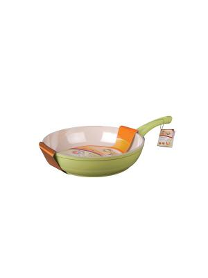 Сковорода 24см Green Top. Цвет: салатовый