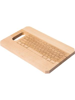 Доска разделочная Magellanno Keyboard, CB005LUM Оранжевый Слоник. Цвет: светло-коричневый