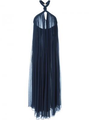 Платье с украшением из плетеного жгута Jay Ahr. Цвет: синий