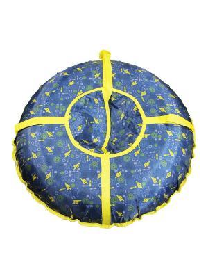 Санки надувные Ватрушка Метиз. Цвет: темно-синий, желтый