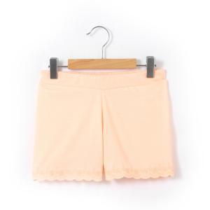Шорты для девочки La Redoute Collections. Цвет: зеленый,ярко-оранжевый