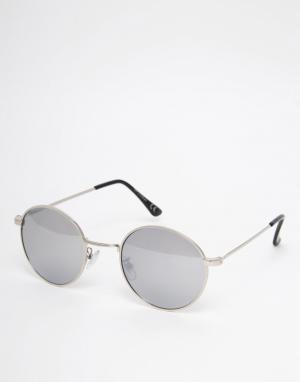 Trip Круглые солнцезащитные очки. Цвет: серебряный