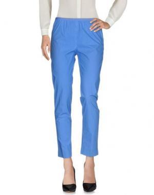Повседневные брюки QL2 QUELLEDUE. Цвет: лазурный
