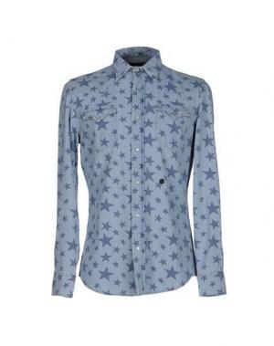 Джинсовая рубашка HYDROGEN SPORTSWEAR. Цвет: синий