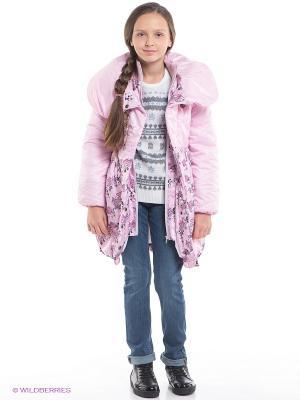 Пальто Мальвина Батик. Цвет: розовый