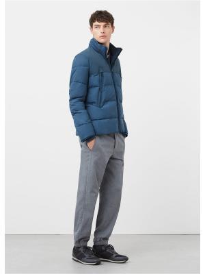 Куртка - BASI7 MANGO MAN. Цвет: серо-голубой