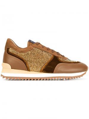 Декорированные кроссовки Le Silla. Цвет: коричневый