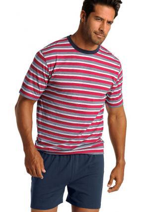 Пижама с шортами H.I.S.. Цвет: 1х красный/белый/темно-синий, 1х синий/белый/темно-синий