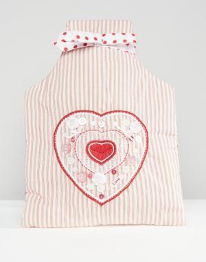 Bombay Duck Чехол с вышивкой для грелки. Цвет: розовый