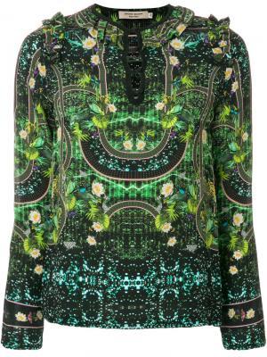 Блузка с рюшами Piccione.Piccione. Цвет: зелёный