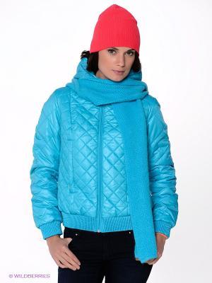 Куртка CONVER. Цвет: бирюзовый
