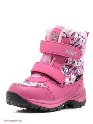 Ботинки REIKE. Цвет: розовый