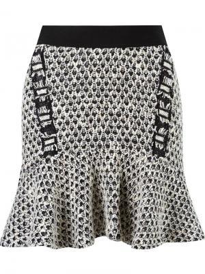 Peplum knit skirt Cecilia Prado. Цвет: чёрный