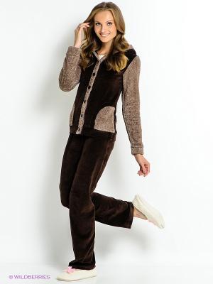 Комплект одежды HAYS. Цвет: темно-коричневый, белый