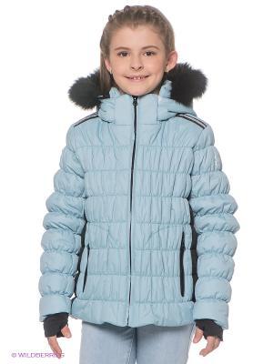 Куртка CACAO. Цвет: голубой