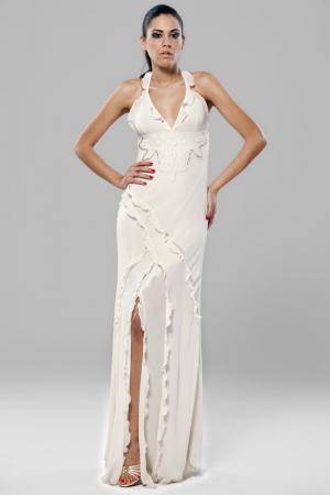 Платье Gizia. Цвет: белый