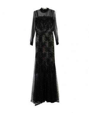 Длинное платье ERDEM. Цвет: черный