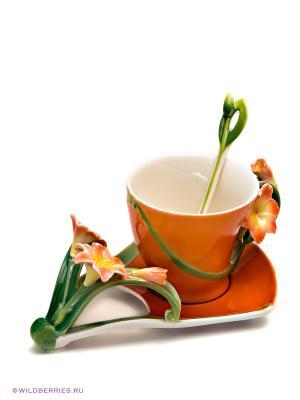 Чайная пара Кливия Pavone. Цвет: оранжевый, зеленый