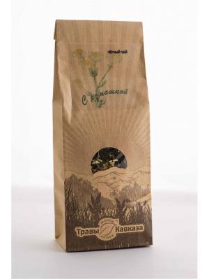 Чай черный с ромашкой Травы Кавказа. Цвет: бежевый