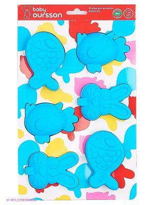 Форма для выпечки детских пирожных OURSSON. Цвет: голубой