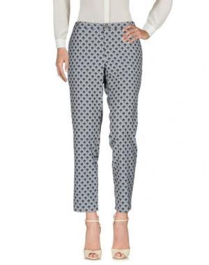 Повседневные брюки LE'S. Цвет: грифельно-синий
