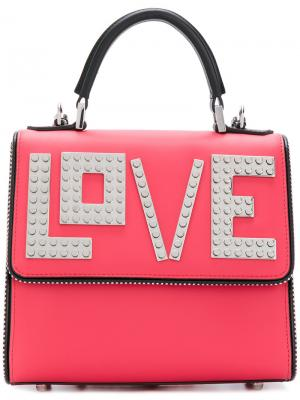 Love tote backpack Les Petits Joueurs. Цвет: красный