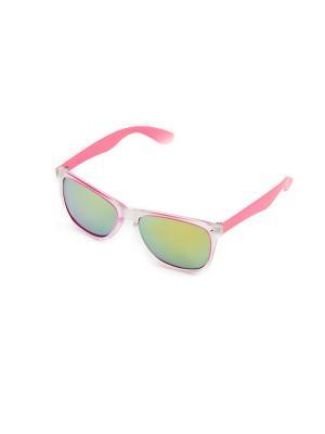 Солнцезащитные очки Mitya Veselkov. Цвет: белый, розовый