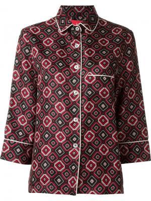 Блузка пижамного кроя For Restless Sleepers. Цвет: красный