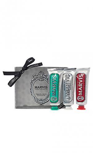 Дорожный набор зубных паст travel Marvis. Цвет: none
