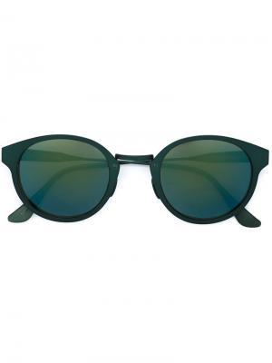 Солнцезащитные очки в круглой оправе Retrosuperfuture. Цвет: зелёный