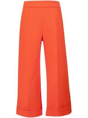 Укороченные брюки Delpozo. Цвет: красный