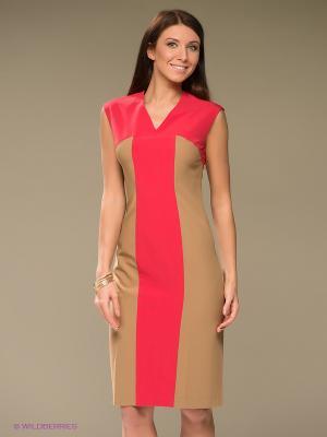 Платье Levall. Цвет: красный, коричневый