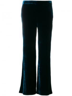 Бархатные широкие брюки  LAutre Chose L'Autre. Цвет: синий
