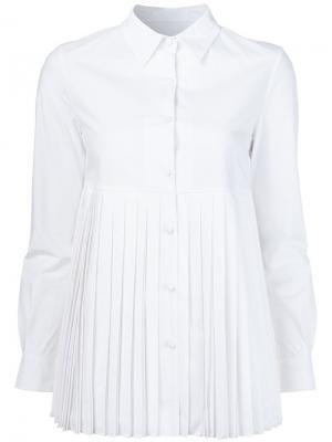 Рубашка со складками Co. Цвет: белый