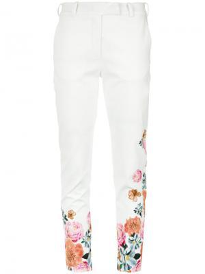 Floral print trousers Isolda. Цвет: белый