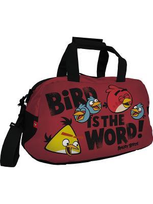 Спортивная сумка ANGRY BIRDS. Цвет: красный