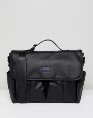 Peter Werth Черная сумка почтальона. Цвет: черный