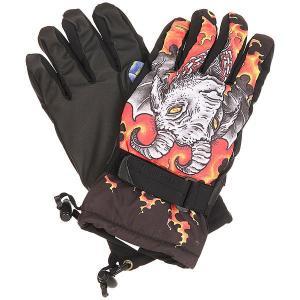 Перчатки сноубордические женские  Handicrafter Glove Quigg Pow. Цвет: черный,мультиколор