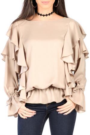 Блуза CARLA BY ROZARANCIO. Цвет: бежевый