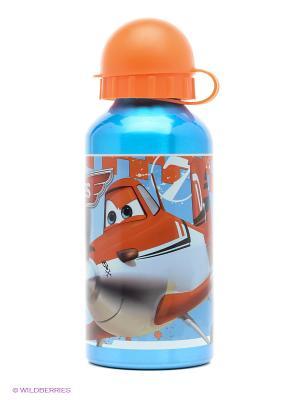 Бутылка алюминиевая Самолеты Stor. Цвет: бирюзовый, оранжевый