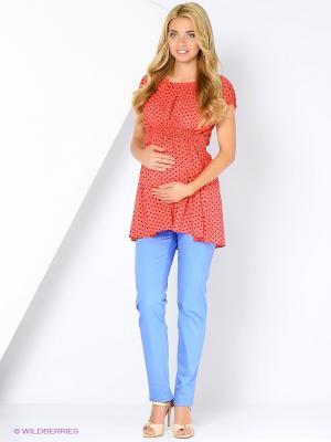 Блузка для беременных FEST. Цвет: розовый, темно-синий