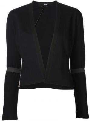 Укороченный пиджак с прозрачными панелями Musée. Цвет: синий