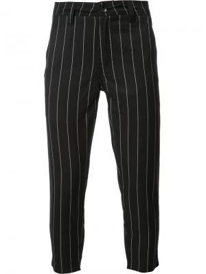 Полосатые укороченные брюки Publish. Цвет: чёрный